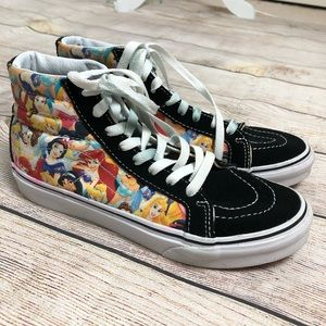 Vans Disney Princess Sk8-Hi Slim Sneakers RARE 6